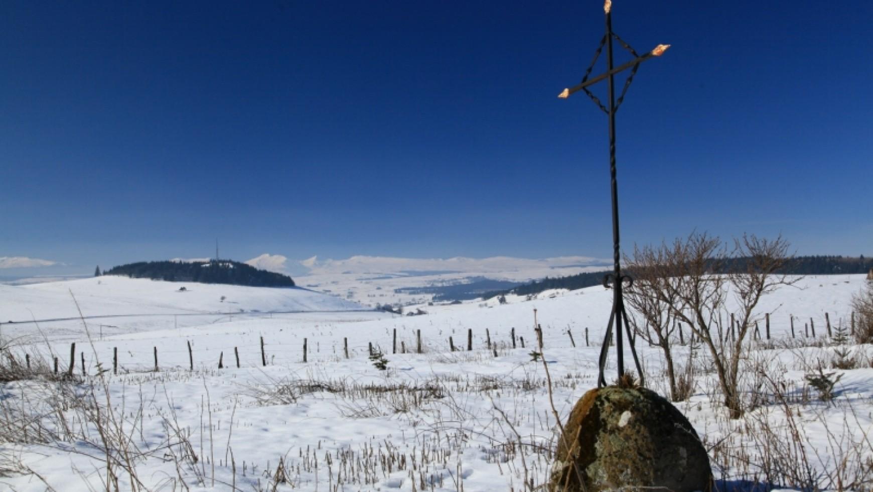 Le Cézallier sous la neige